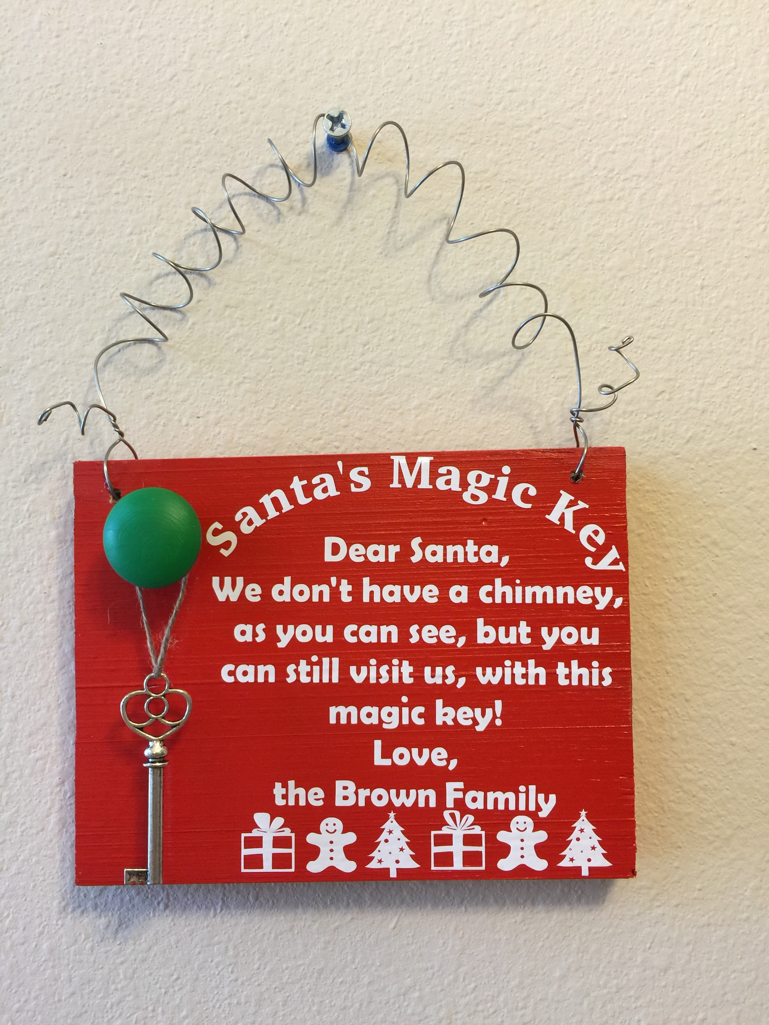 Santas magic key with quote and name custom gifts by kb llc santas magic key with quote and name m4hsunfo