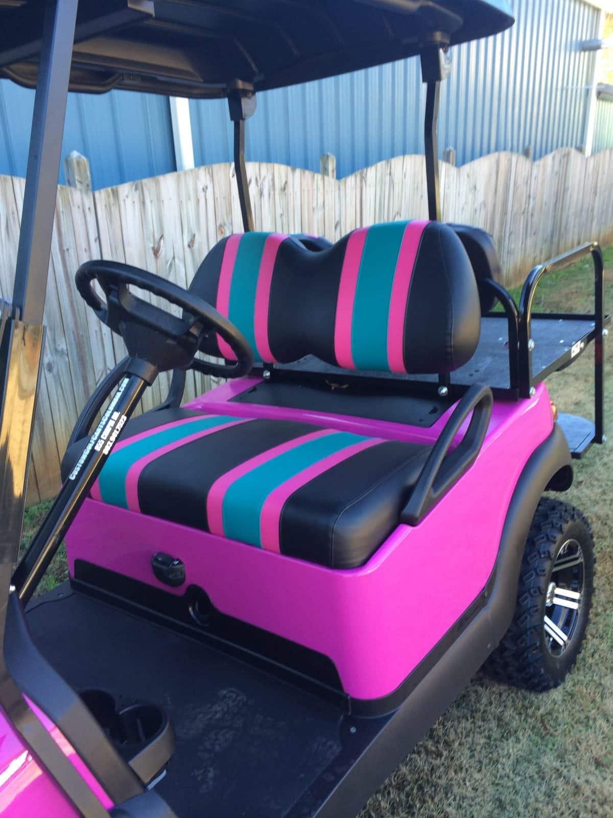 Custom Golf Carts Columbia Sales Services Amp Parts Pink Club Car Precedent Golf Cart