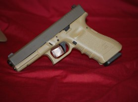 Glock 17 in DuraCoat Tactical OD Green & Multi-Cam Medium Green