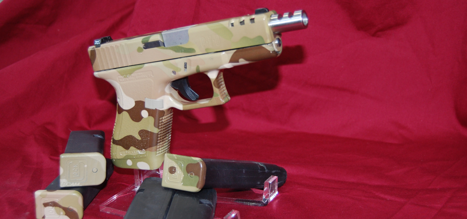Glock 19 Finished in Multi-Cam Hydrographics