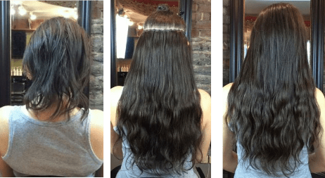 Micro ring extensions afro hair