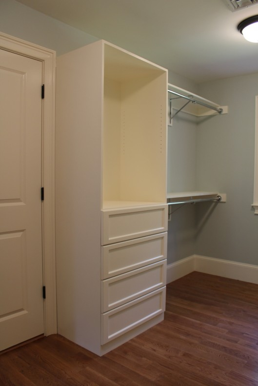 Closet Built Ins With 4 Drawers Custom Home Finish