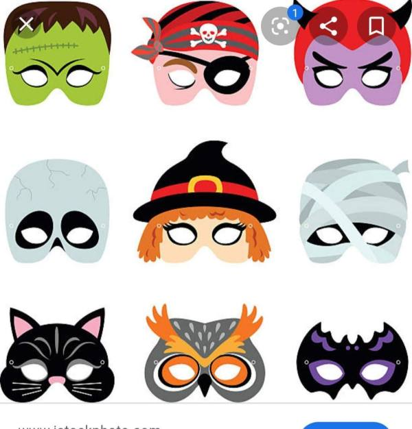 halloween 6 pack masks (PDF file)