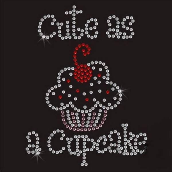cute as a cupcake rhinestone transfer