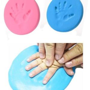 keepsake handprint, air dry clay in pink or blue