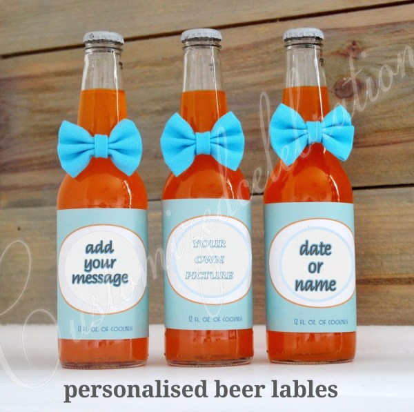 personalised beer bottle wraps