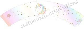 unicorn cupcake wraps