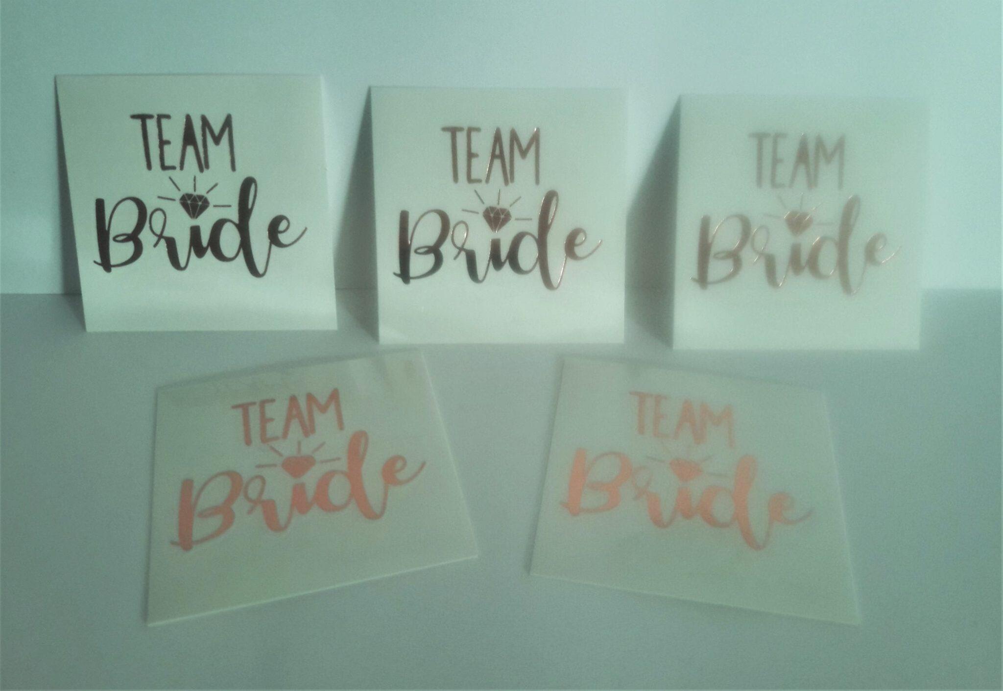 team bride golden temporary tattoos
