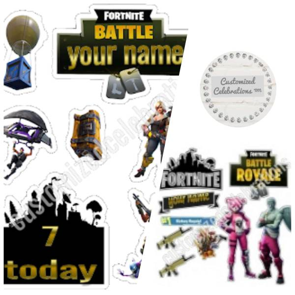 personalised fortnite cake toppers