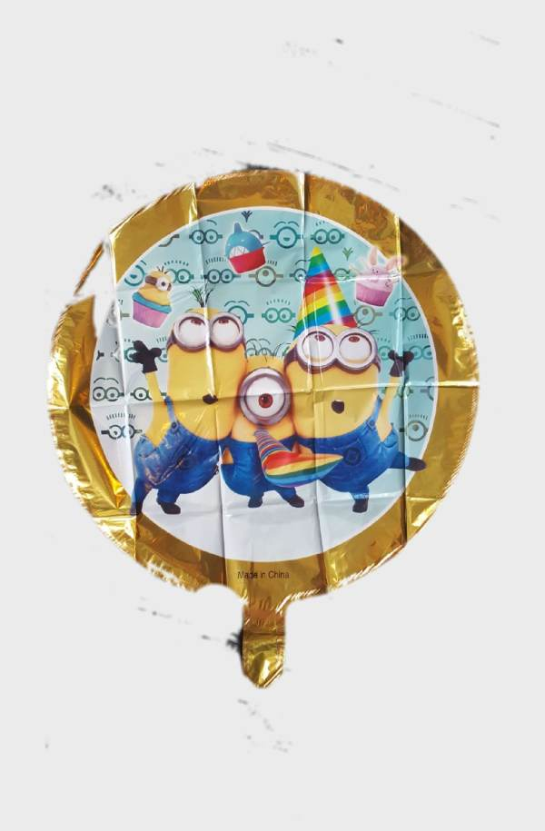"minions round foil balloon 18"""