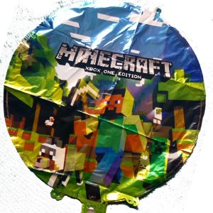 minecraft round foil balloon 18""