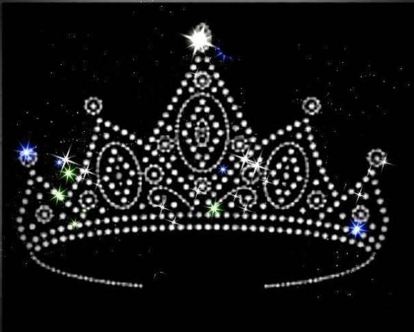 crown rhinestone transfer