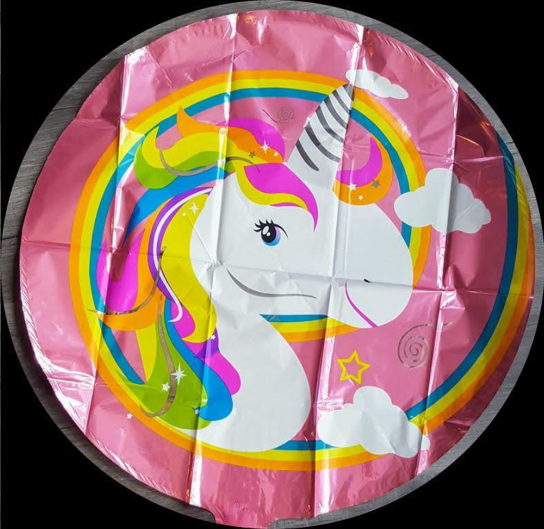 """unicorn round foil balloon 18"""""""