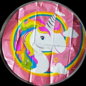 unicorn round foil balloon 18""