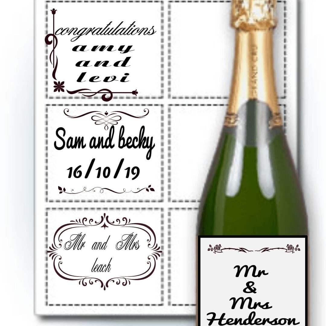 wedding bottle labels