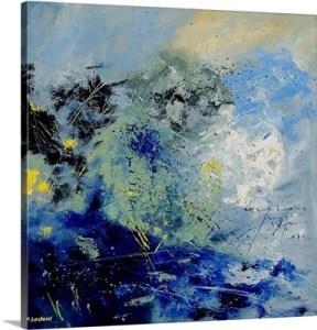 Dark Blues Abstract
