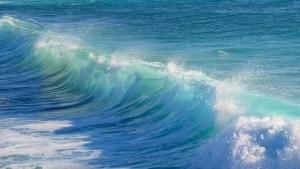 Blue Waves of the Ocean