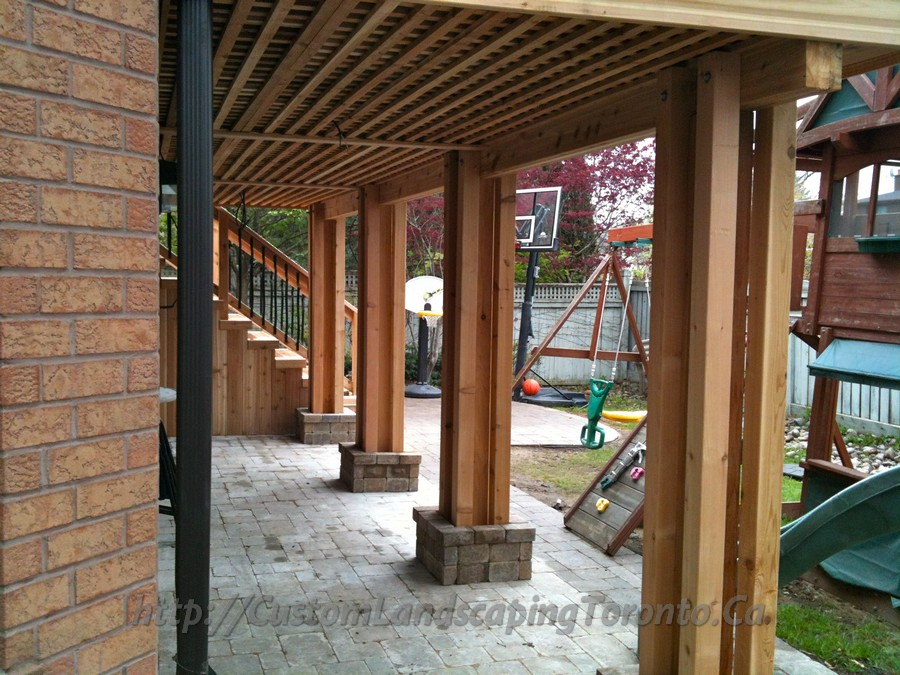 M.E Landscaping provides Toronto with Landscaping ... on Walkout Basement Patio Designs id=16698