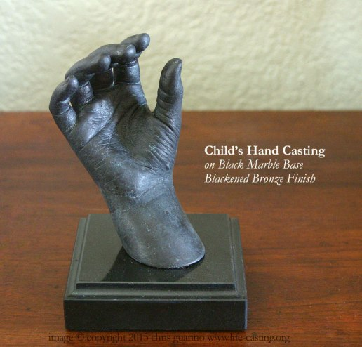 Hand Casting on Marble Base