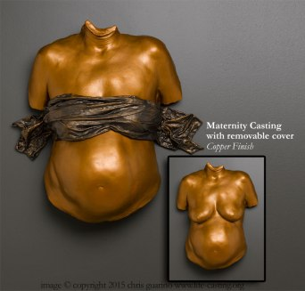 Maternity Casting with Copper Finish