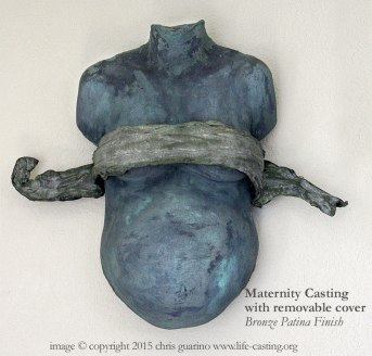 Maternity Casting with Bronze Patina Finish