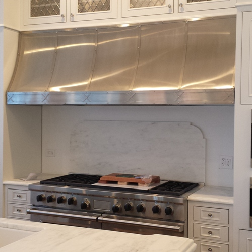 Stainless Steel Range Hood With Pot Rail Transitional Kitchen In Hoods For Stoves