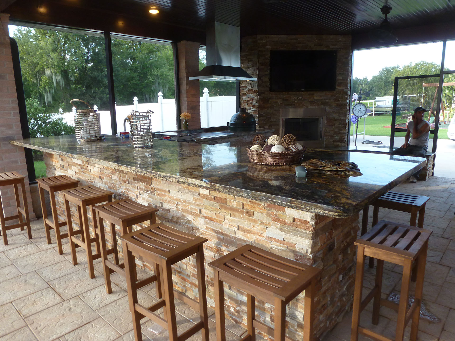 New Orleans Outdoor Kitchens Contractor | Custom Outdoor ... on Patio Kitchen  id=21869