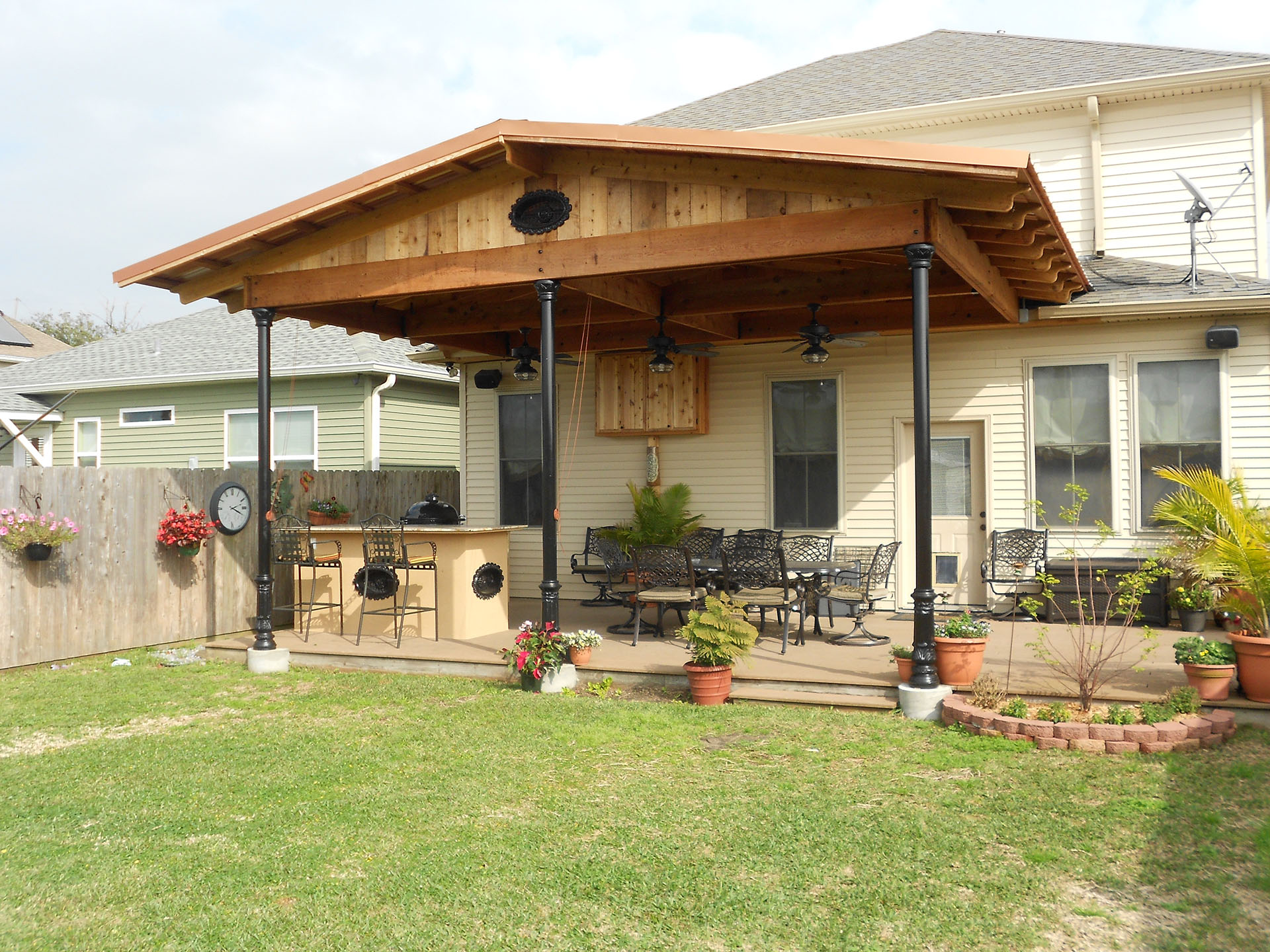 New Orleans Roof Covers   Outdoor Living   Custom Outdoor ... on Backyard Patio Extension Ideas id=79210
