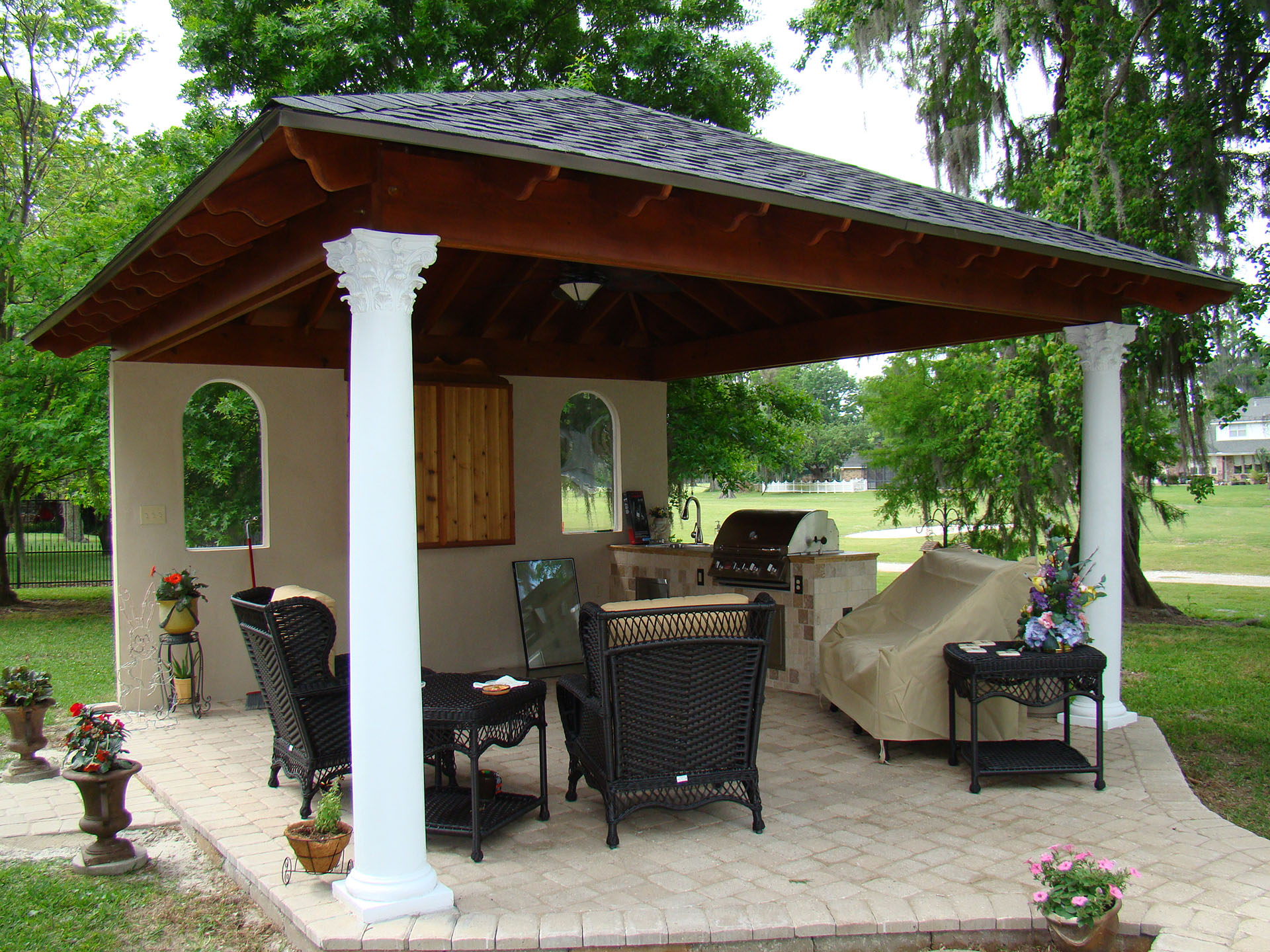 Pavilions | New Orleans Garden Pavilions | Custom Outdoor ... on Outdoor Patio Pavilion id=51727