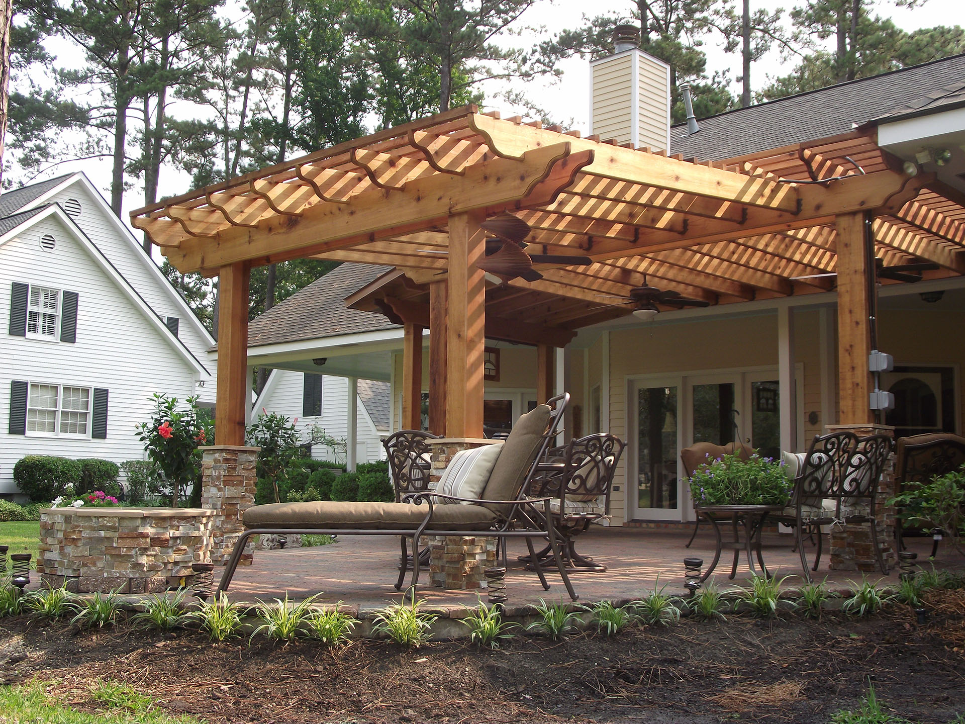 Pergolas   New Orleans Pergola Designs   Custom Outdoor ... on Custom Backyard Designs id=43483