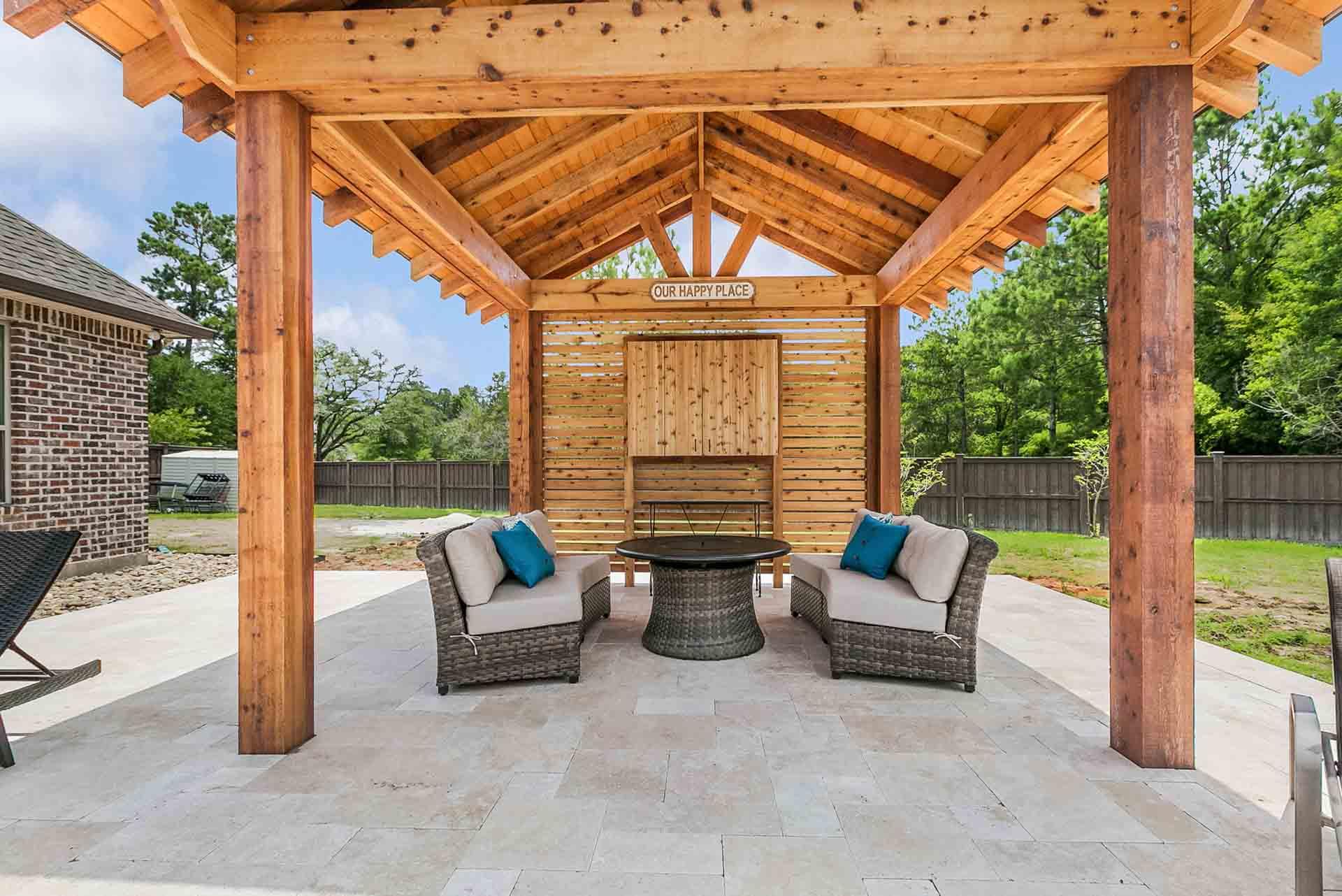 Pergolas   New Orleans Pergola Designs   Custom Outdoor ... on Custom Backyard Designs id=26265