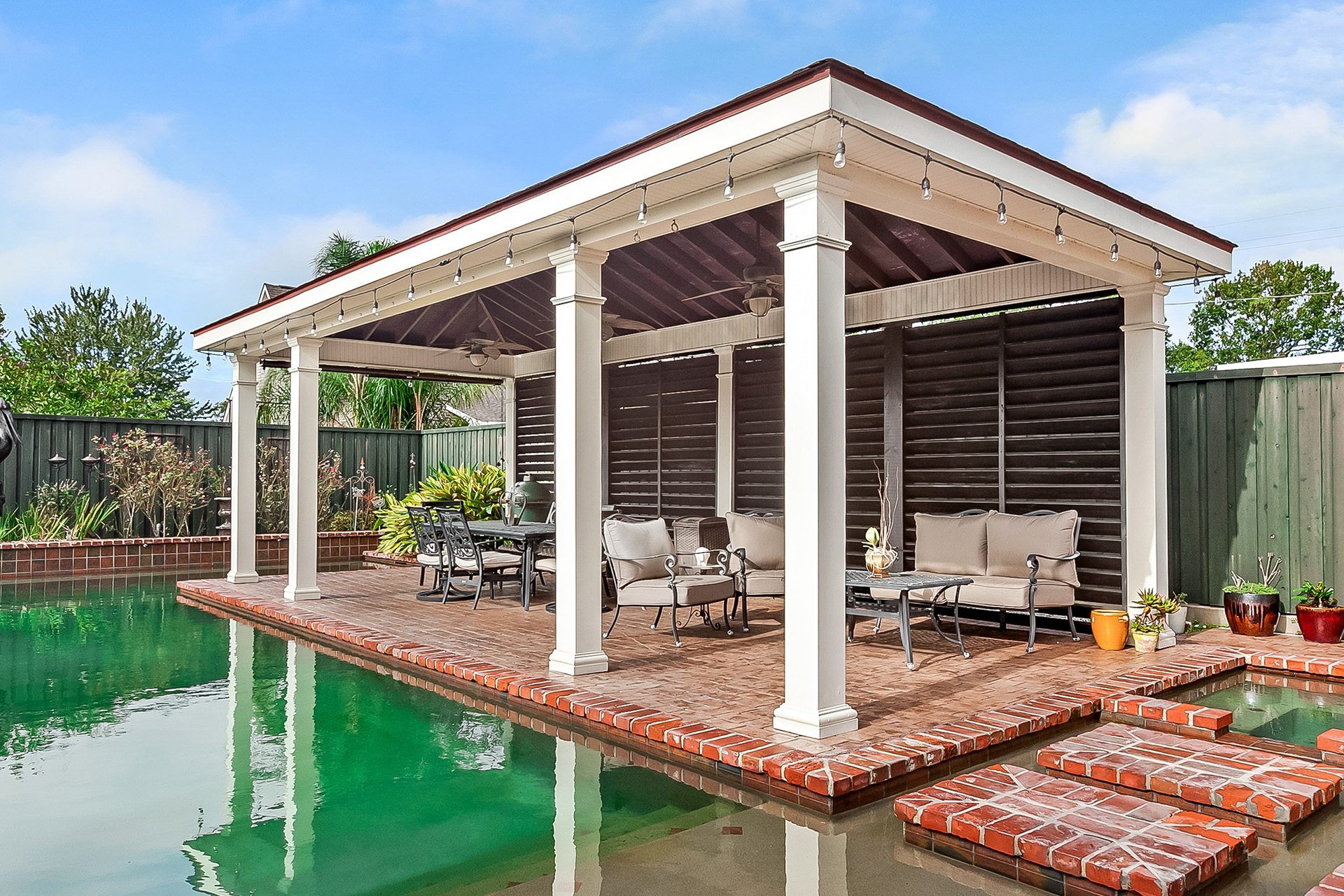 Pavilions | New Orleans Garden Pavilions | Custom Outdoor ... on Outdoor Patio Pavilion id=33171