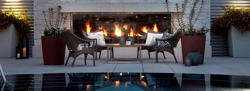 Montigo Outdoor Fireplaces - Sold at Custom Outdoor Living of Las Vegas, Nevada