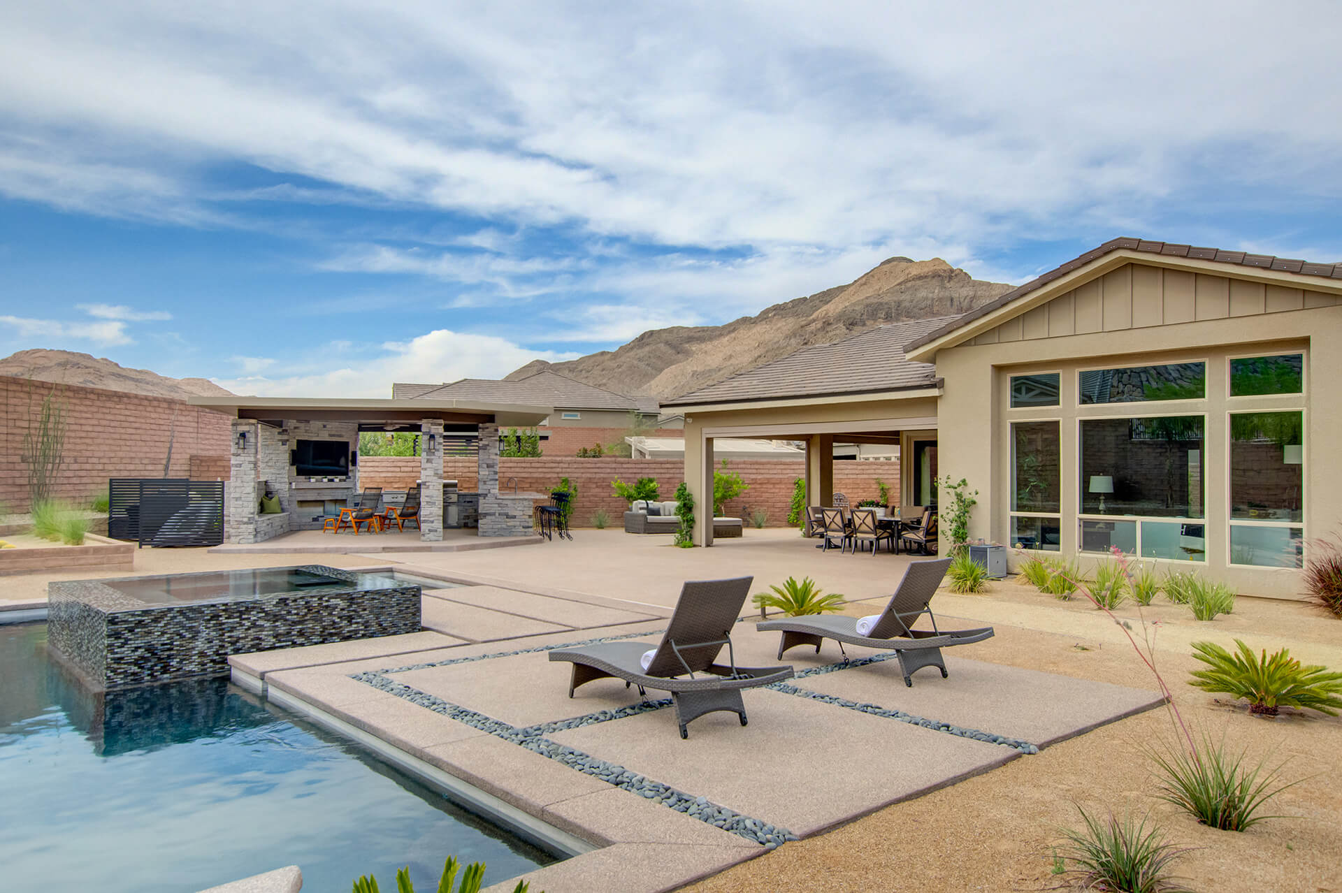 Desert Oasis Outdoor Kitchen & Outdoor Living Area Project ... on Custom Outdoor Living id=19691
