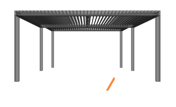 Struxure Automated Patio Cover Louvers - Available at Custom Outdoor Living of Las Vegas, Nevada