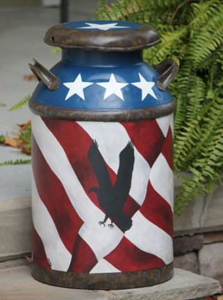Freedom milk can side 1-Denny Martindale