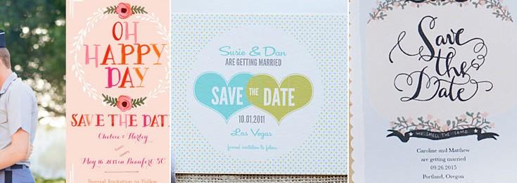 Custom Printed Save Date Cards