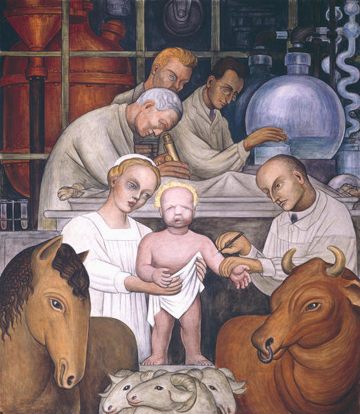 Detroit Industry, Vaccination (North Wall Supporting Panel), 1932-1933 by Diego  Rivera - Paper Print - DIA Custom Prints - Custom Prints and Framing From  the Detroit Institute of Arts
