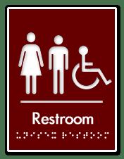business tips restroom sign