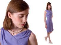 Lavender linen 1960′s style dress.