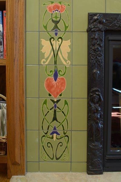 Unique Art Deco Tiles Custom Hand Painted Tile Artwork