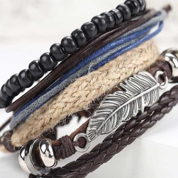 Mens-fashionable-leather-bracelet
