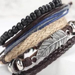 Mens-fashionable-leather-bracelet