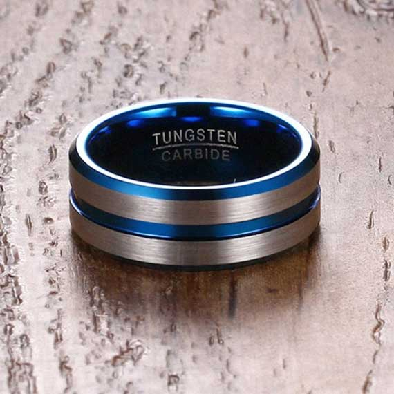 Silver-with-blue-single-stripe-and-blue-inside-mens-8-mm-tungsten-ring