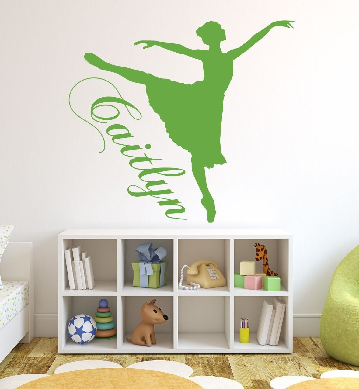 Personalized Ballerina Wall Decal