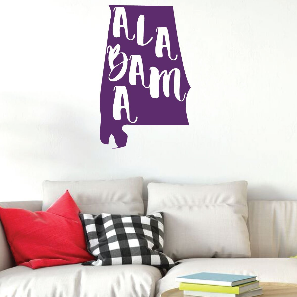 Alabama Quote State Silhouette Design Wall Decal Living Room Home Decor