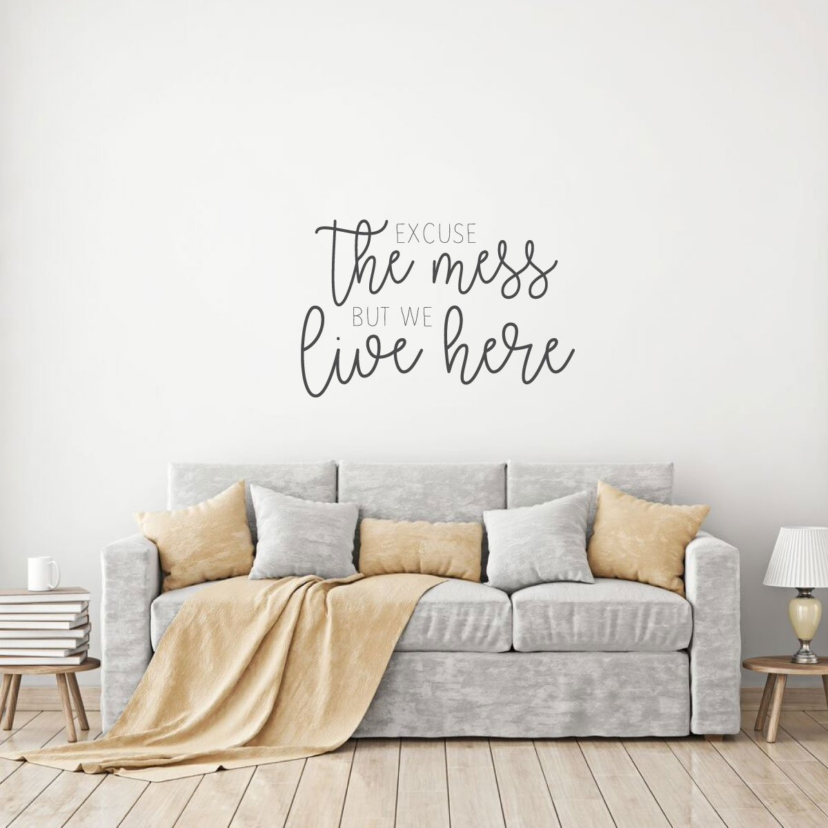 Excuse The Mess Quote For Living Room Vinyl Home Decor Wall Decal