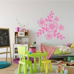 Floral Vinyl Wall Decals Vinyl Decor Wall Decal