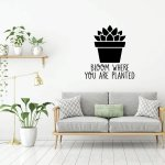 Potted Plant Wall Decal Vinyl Decor Wall Decal Customvinyldecor Com