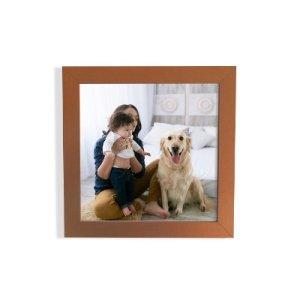 foto enmarcada en moldura cobre satinada 30x30